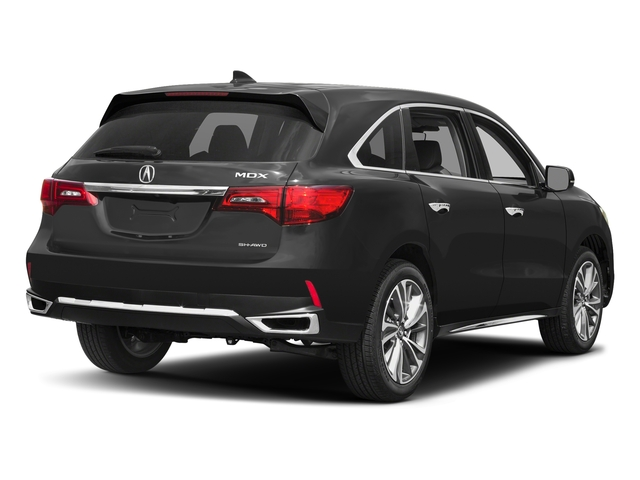 Modern Steel Metallic 2017 Acura MDX Pictures MDX Utility 4D Technology AWD V6 photos rear view