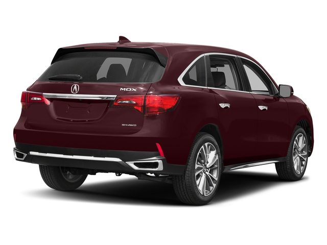Dark Cherry Pearl 2017 Acura MDX Pictures MDX Utility 4D Technology AWD V6 photos rear view