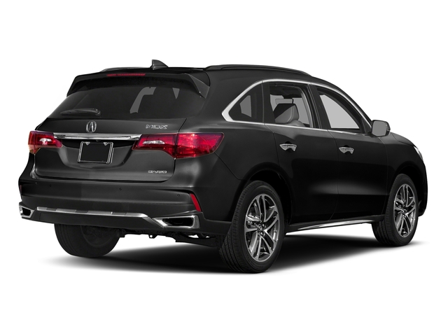 Crystal Black Pearl 2017 Acura MDX Pictures MDX Utility 4D Advance DVD AWD V6 photos rear view