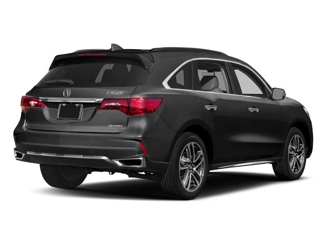 Modern Steel Metallic 2017 Acura MDX Pictures MDX SH-AWD w/Advance/Entertainment Pkg photos rear view