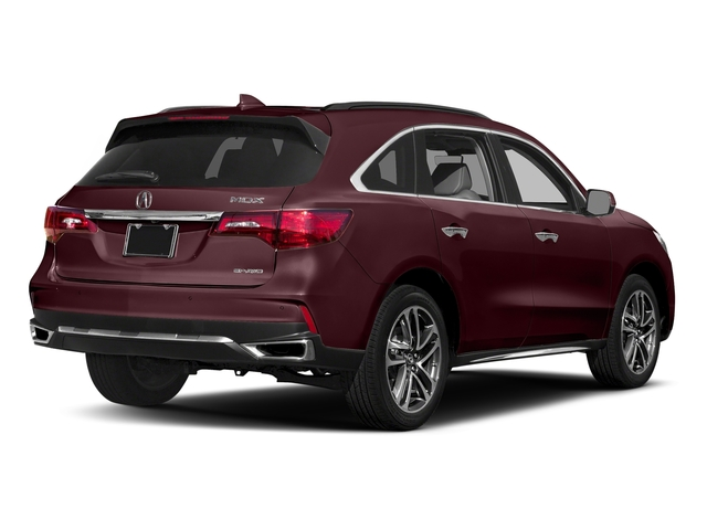 Dark Cherry Pearl 2017 Acura MDX Pictures MDX SH-AWD w/Advance/Entertainment Pkg photos rear view