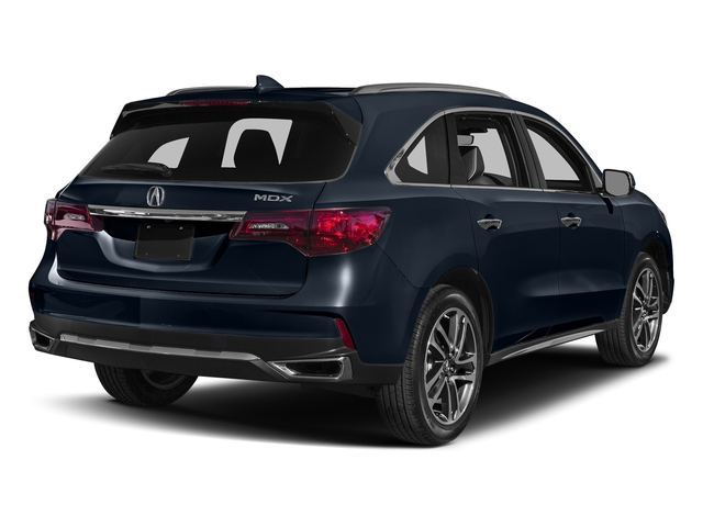 Fathom Blue Pearl 2017 Acura MDX Pictures MDX Utility 4D Advance DVD 2WD V6 photos rear view