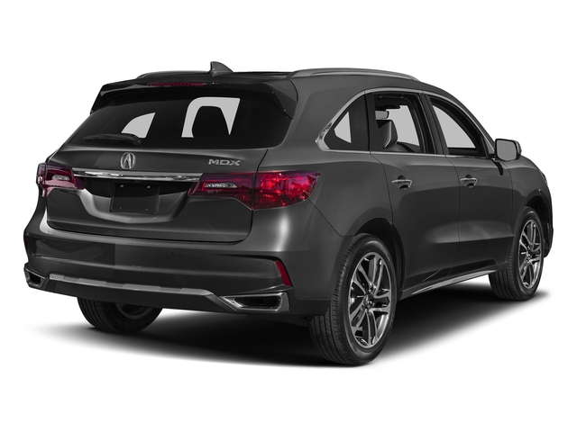 Modern Steel Metallic 2017 Acura MDX Pictures MDX Utility 4D Advance DVD 2WD V6 photos rear view