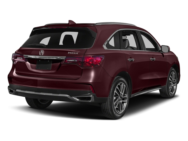 Dark Cherry Pearl 2017 Acura MDX Pictures MDX Utility 4D Advance DVD 2WD V6 photos rear view