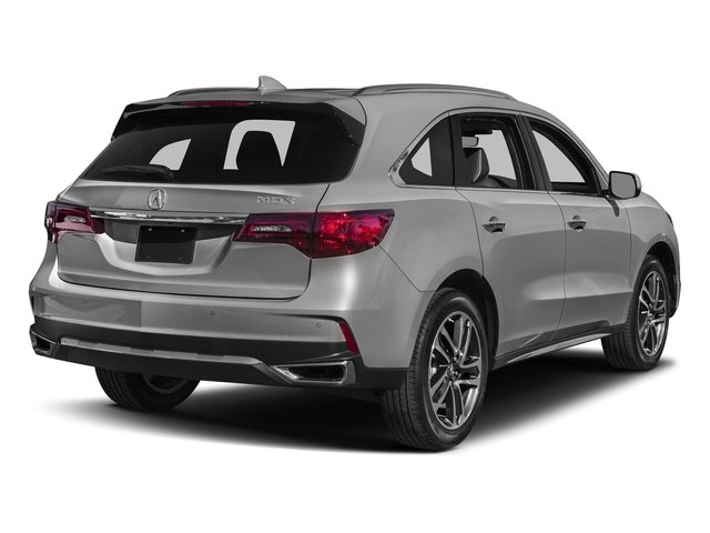 Lunar Silver Metallic 2017 Acura MDX Pictures MDX Utility 4D Advance DVD 2WD V6 photos rear view