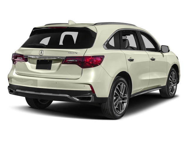 White Diamond Pearl 2017 Acura MDX Pictures MDX Utility 4D Advance DVD 2WD V6 photos rear view