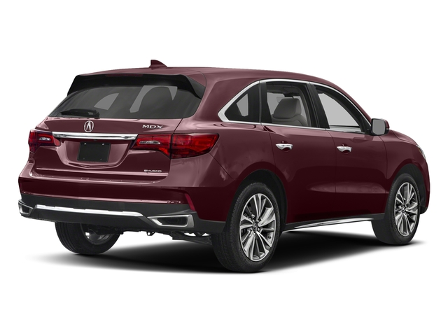 Dark Cherry Pearl 2017 Acura MDX Pictures MDX Utility 4D Technology DVD AWD V6 photos rear view