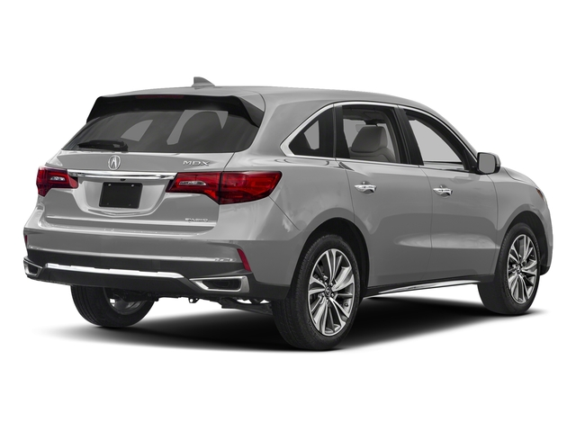 Lunar Silver Metallic 2017 Acura MDX Pictures MDX Utility 4D Technology DVD AWD V6 photos rear view