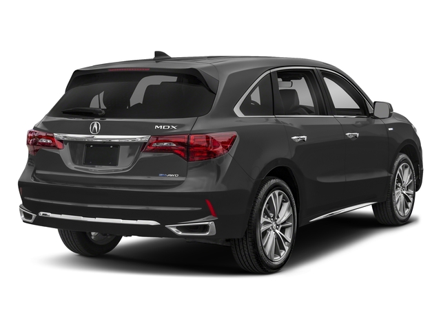 Modern Steel Metallic 2017 Acura MDX Pictures MDX Utility 4D Technology AWD Hybrid photos rear view