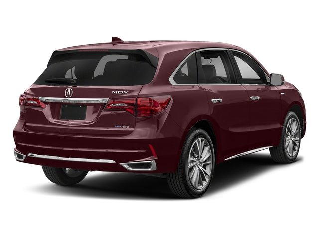Dark Cherry Pearl 2017 Acura MDX Pictures MDX Utility 4D Technology AWD Hybrid photos rear view