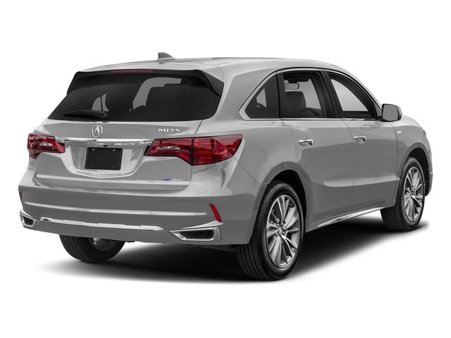 Lunar Silver Metallic 2017 Acura MDX Pictures MDX Utility 4D Technology AWD Hybrid photos rear view