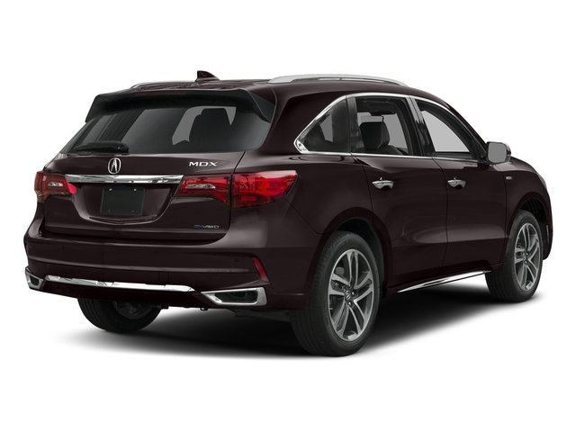 Black Copper Pearl 2017 Acura MDX Pictures MDX SH-AWD Sport Hybrid w/Advance Pkg photos rear view