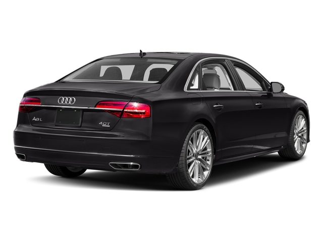 Oolong Gray Metallic 2017 Audi A8 L Pictures A8 L 4.0 TFSI Sport photos rear view