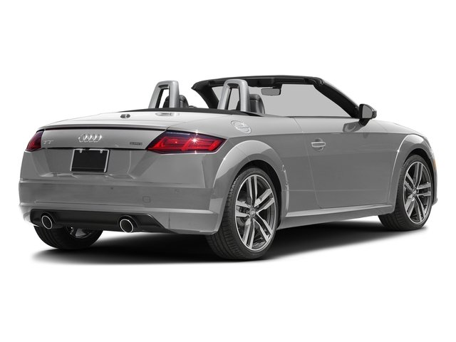 Glacier White Metallic/Black Roof 2017 Audi TT Roadster Pictures TT Roadster 2.0 TFSI photos rear view