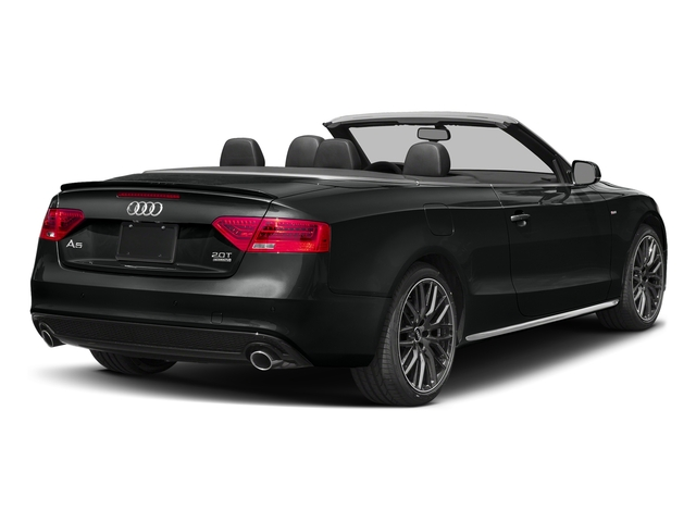 Mythos Black Metallic/Black Roof 2017 Audi A5 Cabriolet Pictures A5 Cabriolet Convertible 2D Sport AWD photos rear view