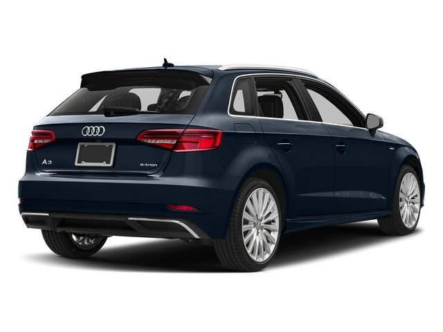 Cosmos Blue Metallic 2017 Audi A3 Sportback e-tron Pictures A3 Sportback e-tron Hatchback 5D E-tron Premium Plus photos rear view