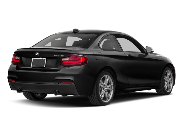 Black Sapphire Metallic 2017 BMW 2 Series Pictures 2 Series Coupe 2D M240i I6 Turbo photos rear view
