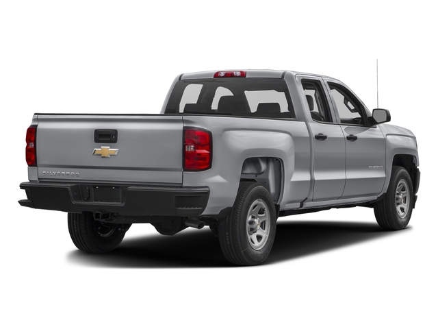 Silver Ice Metallic 2017 Chevrolet Silverado 1500 Pictures Silverado 1500 2WD Double Cab 143.5 Work Truck photos rear view