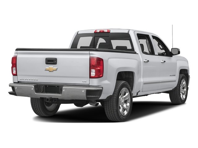 Silver Ice Metallic 2017 Chevrolet Silverado 1500 Pictures Silverado 1500 4WD Crew Cab 153.0 LTZ w/1LZ photos rear view