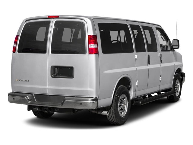 Silver Ice Metallic 2017 Chevrolet Express Passenger Pictures Express Passenger RWD 2500 135 LS photos rear view