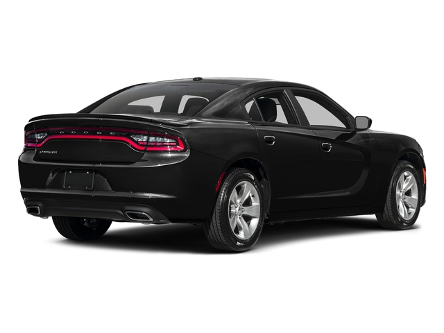 Pitch Black Clearcoat 2017 Dodge Charger Pictures Charger Sedan 4D SE V6 photos rear view