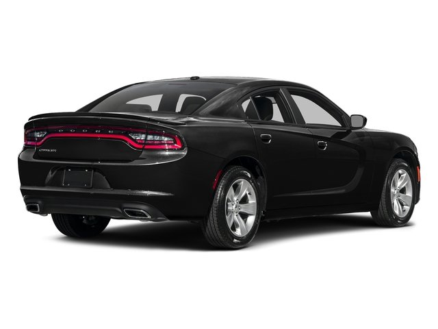 Pitch Black Clearcoat 2017 Dodge Charger Pictures Charger Sedan 4D SE AWD V6 photos rear view