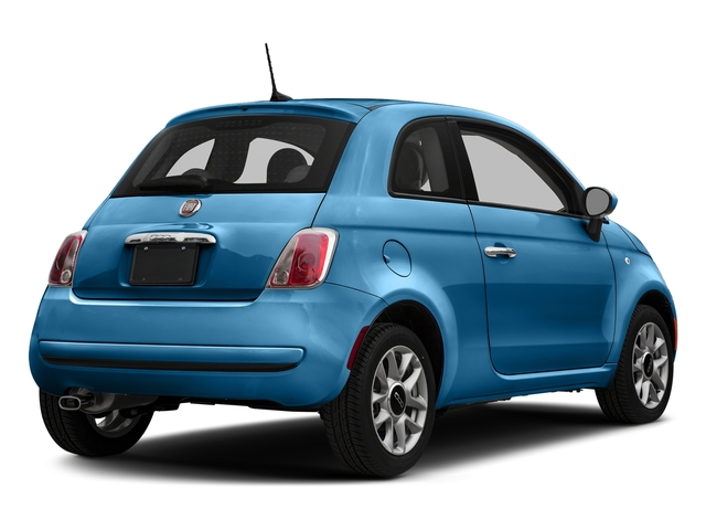 Laser Blu (Bright Metallic Blue) 2017 FIAT 500 Pictures 500 Lounge Hatch photos rear view