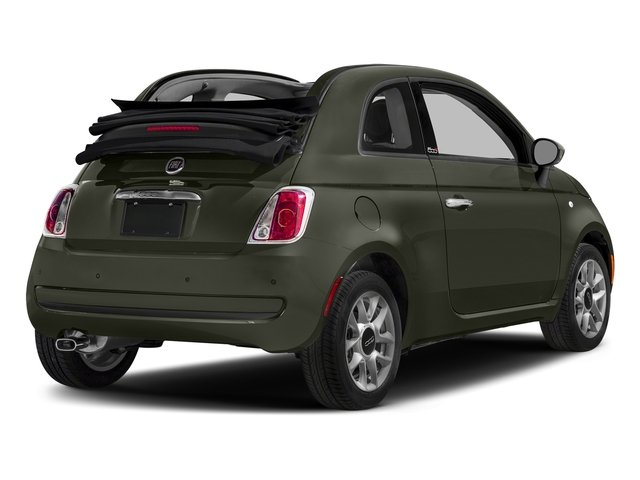 Verde Oliva (Olive Green) 2017 FIAT 500c Pictures 500c Lounge Cabrio photos rear view