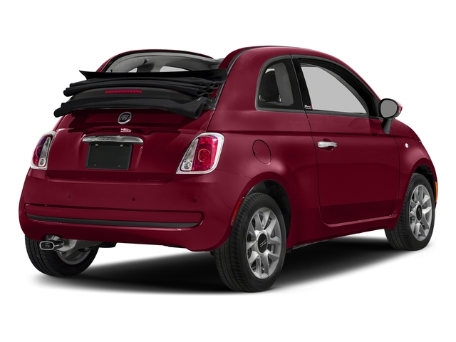 Rosso (Red) 2017 FIAT 500c Pictures 500c Lounge Cabrio photos rear view