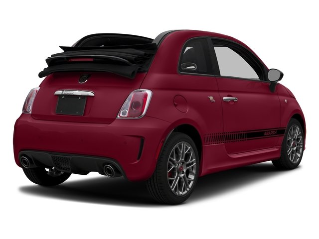 Rosso (Red) 2017 FIAT 500 Abarth Pictures 500 Abarth Cabrio photos rear view