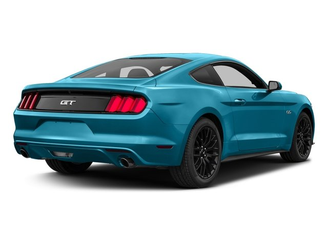 Lightning Blue Metallic 2017 Ford Mustang Pictures Mustang Coupe 2D GT V8 photos rear view