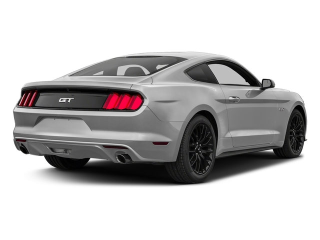 Ingot Silver Metallic 2017 Ford Mustang Pictures Mustang Coupe 2D GT V8 photos rear view