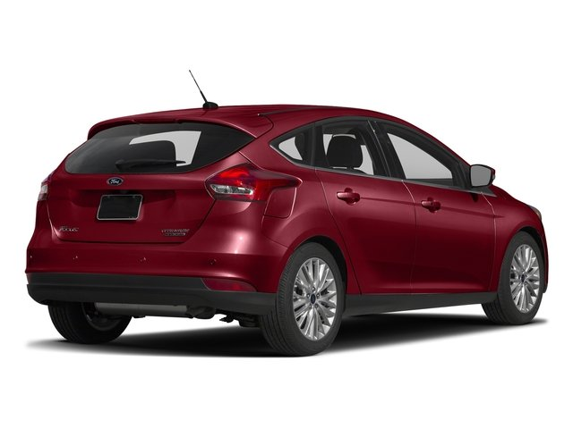 Ruby Red Metallic Tinted Clearcoat 2017 Ford Focus Pictures Focus Hatchback 5D Titanium I4 photos rear view