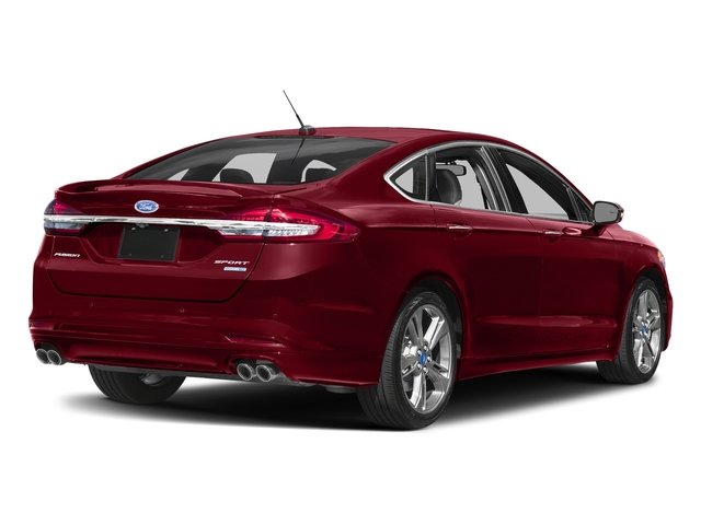 Ruby Red Metallic Tinted Clearcoat 2017 Ford Fusion Pictures Fusion Sedan 4D Sport EcoBoost V4 Turbo photos rear view