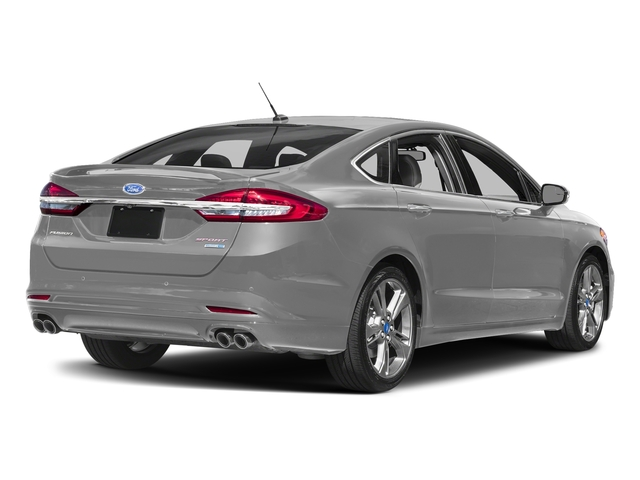 Ingot Silver 2017 Ford Fusion Pictures Fusion Sedan 4D Sport EcoBoost V4 Turbo photos rear view