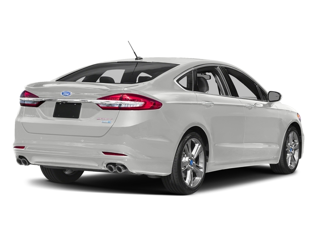Oxford White 2017 Ford Fusion Pictures Fusion Sedan 4D Sport EcoBoost V4 Turbo photos rear view