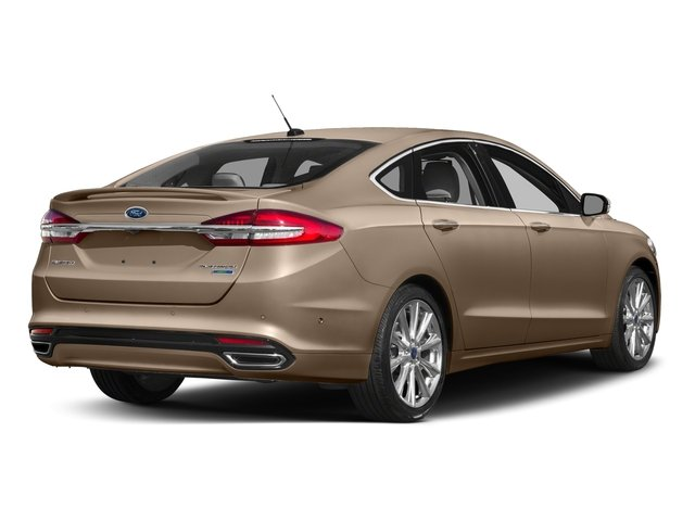 White Gold 2017 Ford Fusion Pictures Fusion Sedan 4D Platinum AWD I4 Turbo photos rear view