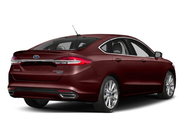 Burgundy Velvet Metallic Tinted Clearcoat 2017 Ford Fusion Pictures Fusion Sedan 4D Platinum AWD I4 Turbo photos rear view