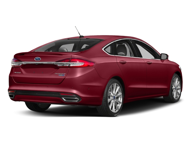 Ruby Red Metallic Tinted Clearcoat 2017 Ford Fusion Pictures Fusion Sedan 4D Platinum AWD I4 Turbo photos rear view