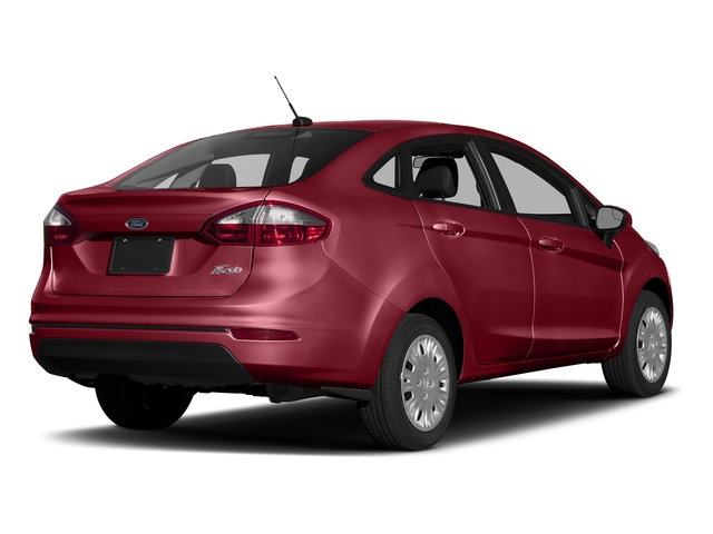 Ruby Red Metallic Tinted Clearcoat 2017 Ford Fiesta Pictures Fiesta Sedan 4D SE I4 photos rear view