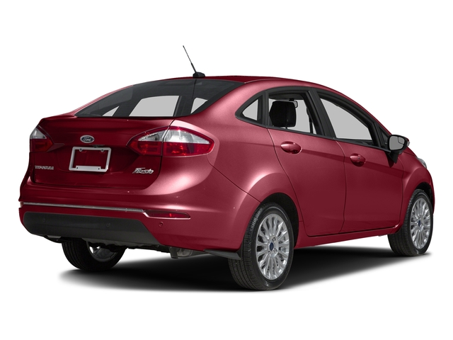 Ruby Red Metallic Tinted Clearcoat 2017 Ford Fiesta Pictures Fiesta Sedan 4D Titanium I4 photos rear view