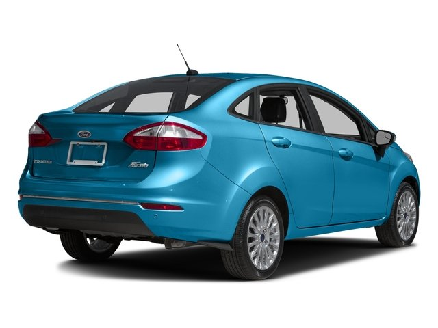 Blue Candy Metallic Tinted Clearcoat 2017 Ford Fiesta Pictures Fiesta Sedan 4D Titanium I4 photos rear view