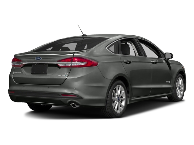 Magnetic 2017 Ford Fusion Pictures Fusion Sedan 4D SE I4 Hybrid photos rear view