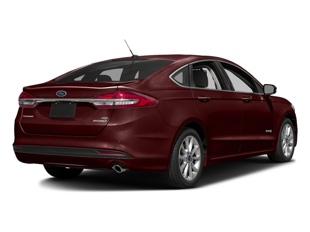 Burgundy Velvet Metallic Tinted Clearcoat 2017 Ford Fusion Pictures Fusion Sedan 4D SE I4 Hybrid photos rear view