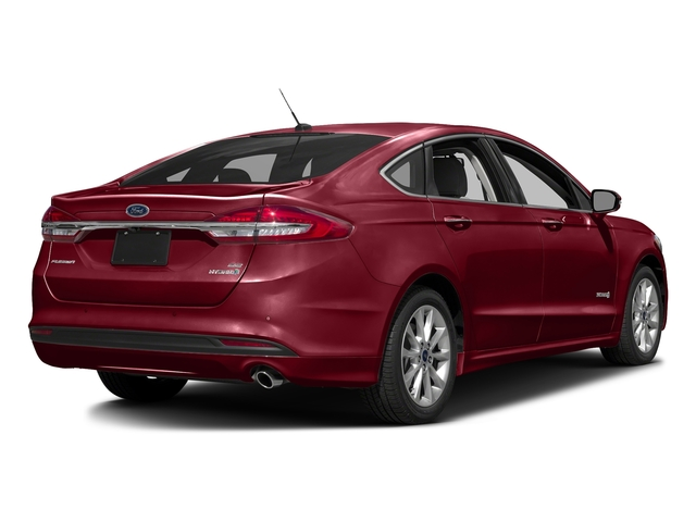 Ruby Red Metallic Tinted Clearcoat 2017 Ford Fusion Pictures Fusion Sedan 4D SE I4 Hybrid photos rear view