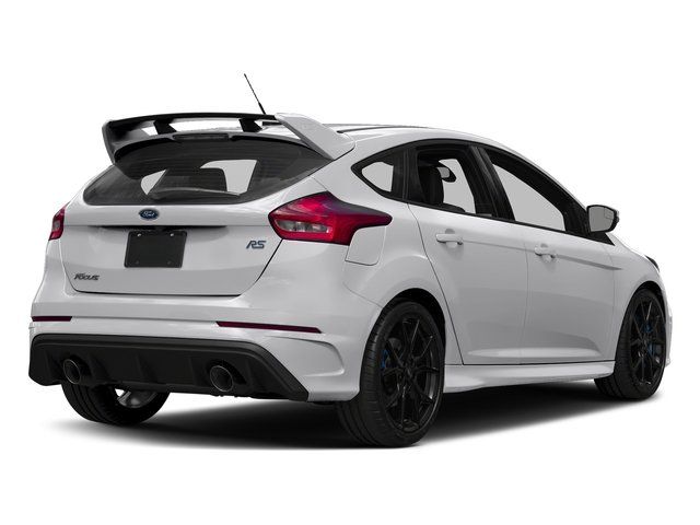 Frozen White 2017 Ford Focus Pictures Focus Hatchback 5D RS AWD I4 Turbo photos rear view