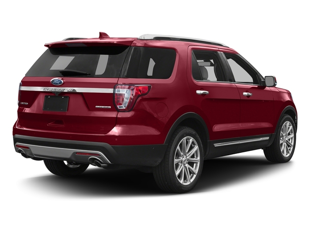 Ruby Red Metallic Tinted Clearcoat 2017 Ford Explorer Pictures Explorer Utility 4D Limited 4WD V6 photos rear view