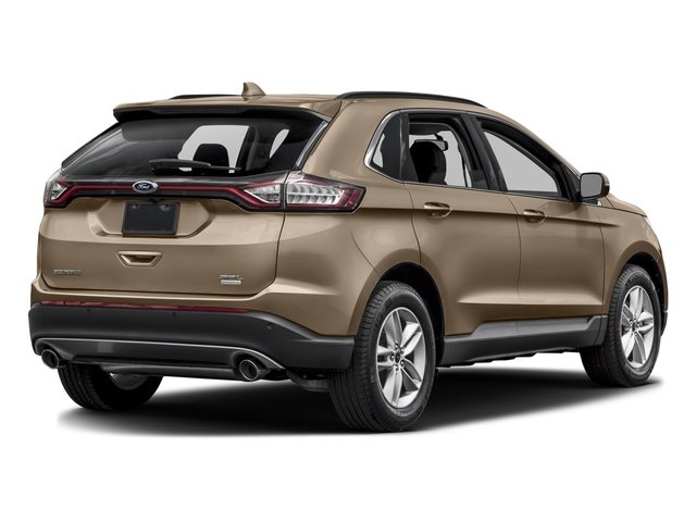 White Gold Metallic 2017 Ford Edge Pictures Edge Utility 4D SEL 2WD V6 photos rear view