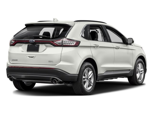 White Platinum Metallic Tri-Coat 2017 Ford Edge Pictures Edge Utility 4D SEL 2WD V6 photos rear view