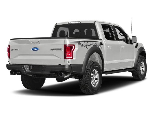 Oxford White 2017 Ford F-150 Pictures F-150 Crew Cab Raptor 4WD photos rear view